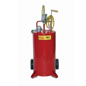John Dow JDI-25GC 25 Gallon Steel Gas Caddy | Heavy Duty Pump